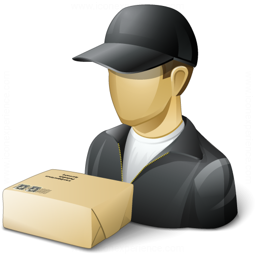 Iconexperience V Collection Delivery Man Parcel Icon