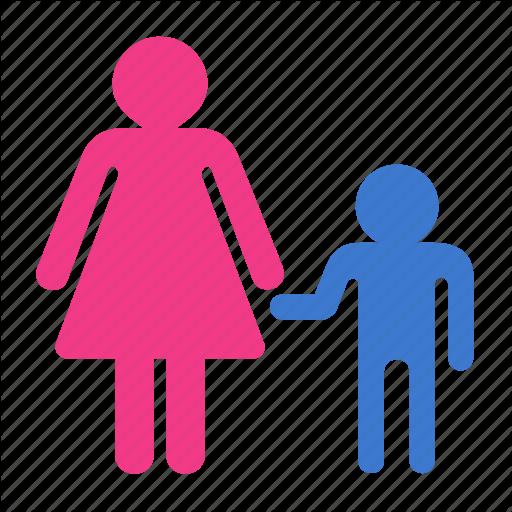 Child, Mother, Parent, Parent Control, Son Icon