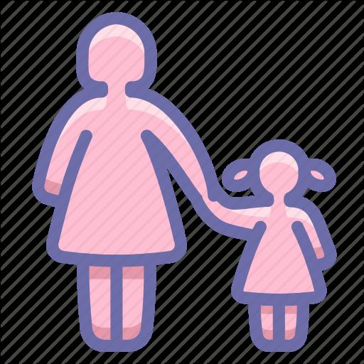 Child, Mother, Parental Control Icon