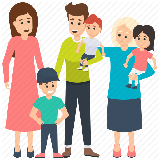 Daughters, Family Characters, Grandmother, Mother, Parents Icon