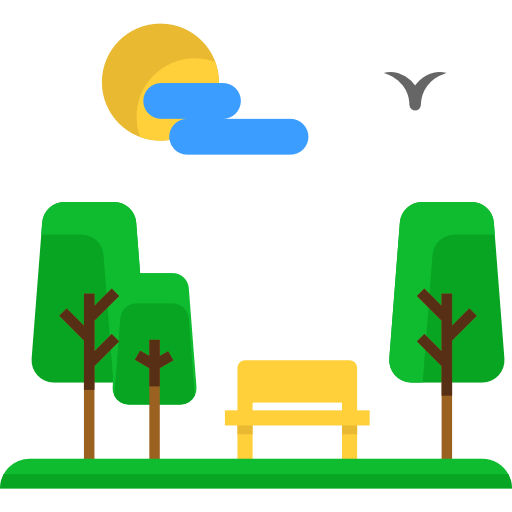 Urban, Bench, Trees, Seat, Comfortable, Nature, Park Icon