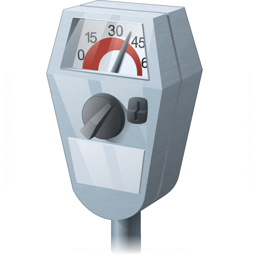 Iconexperience V Collection Parking Meter Icon