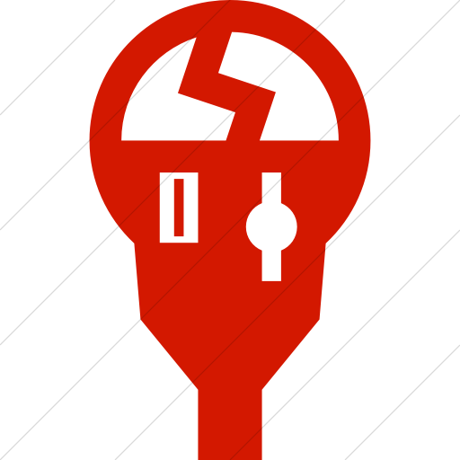 Simple Red Iconathon Broken Parking Meter Icon