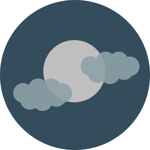 Cloudy Moon Png Icon