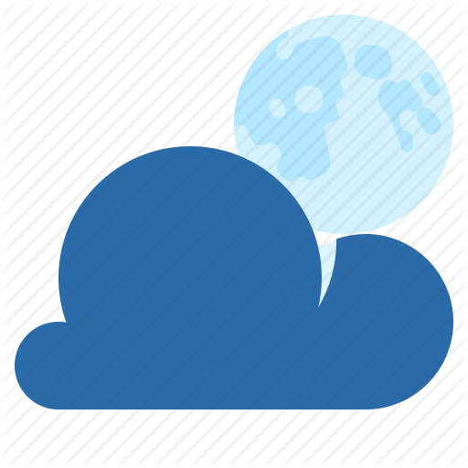 Moon, Night, Partly Cloudy, Weather Icon