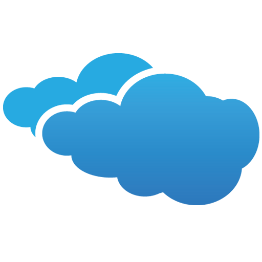 Blue Cloudy Symbol Icon Download Free Icons
