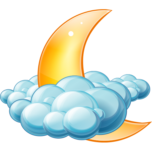 Cloudy Night Icon Large Weather Iconset Aha Soft Team