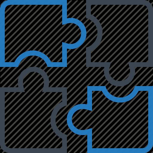 Parts, Pieces, Puzzle, Solution Icon