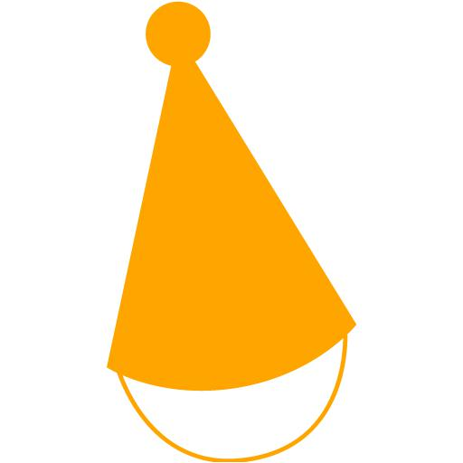 Orange Party Hat Icon