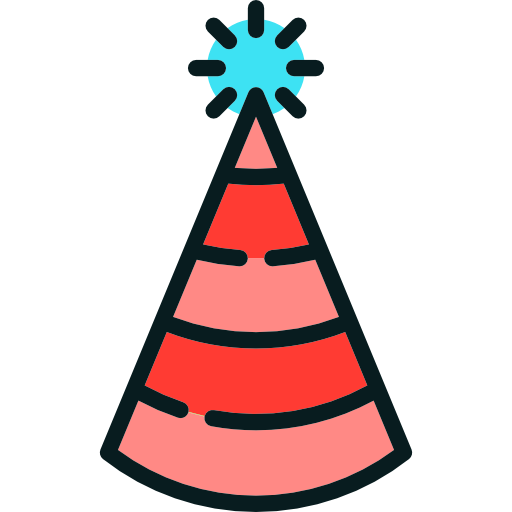 Carnival, Birthday, Costume, Party, Hat Icon