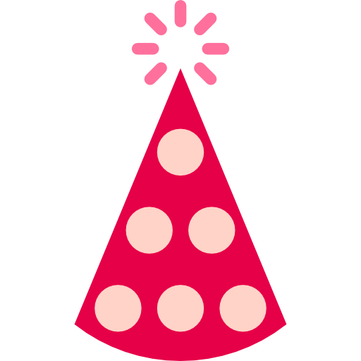 Hat, Celebration, Birthday And Party, Birthday, Party, Fun, Hats Icon
