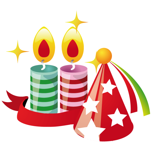 Party Hat Candles Icon Christmas Iconset Mohsen Fakharian