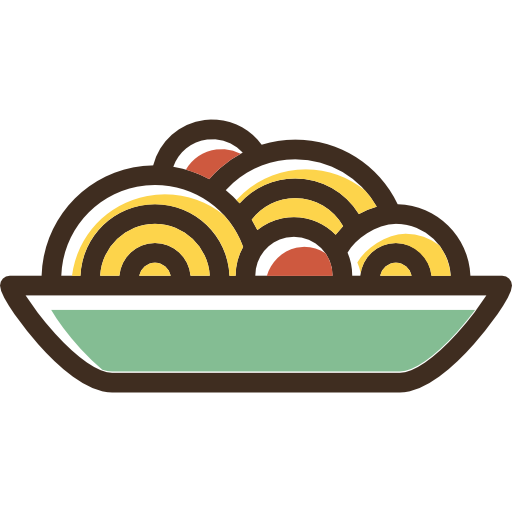 Food, Bowl, Plate, Spaghetti, Dish, Italian Food, Pasta Icon
