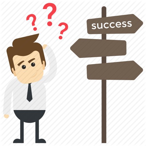 Confused Man, Employee, Key To Success, Pathway To Success, Way