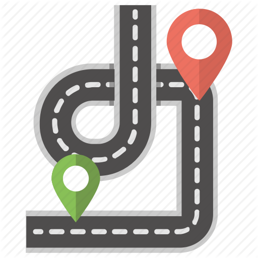 Location Finder, Pathway Map, Road Map, Road Pointer, Road