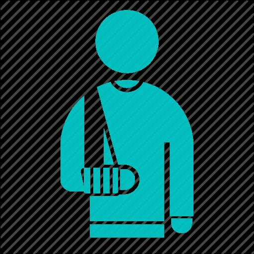 Arm, Broken, Cast, Outpatient, Patient Icon