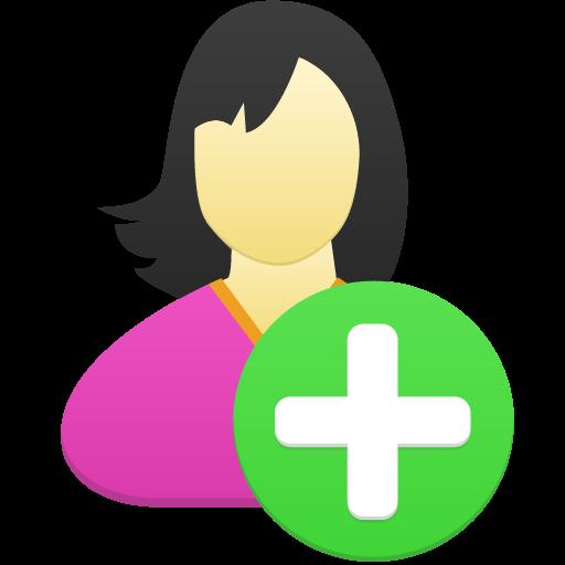 Female User Add Icon Flatastic Iconset Custom Icon Design