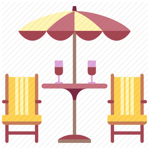 Backyard, Furniture, Garden, House, Outdoor, Patio, Table Icon