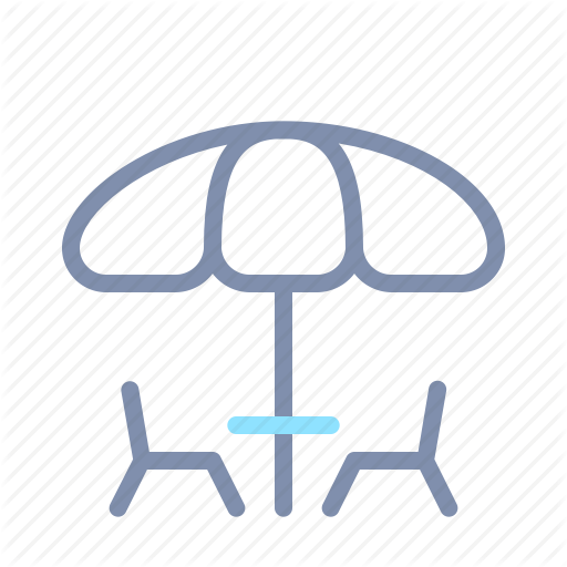 Chairs, Garden, Home, Interior, Outdoor, Patio, Umbrella Icon