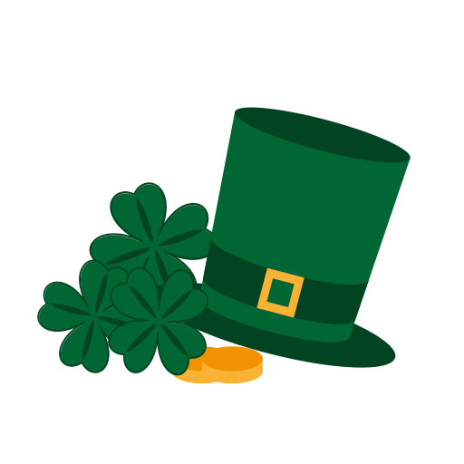 Cllover, Gold, Happy, Hat, Patrick, Saint, St Icon
