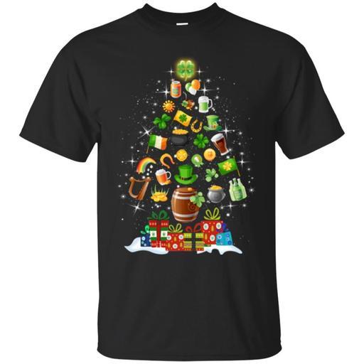Merry Christmas Irish Icon Tree Funny Gift Patrick's Day T Shirt