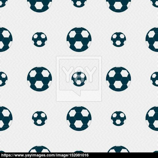 Football Icon Sign Seamless Pattern With Geometric Texture