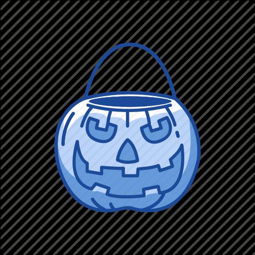 Basket Pumpkin, Carved Pumpkin, Halloween, Trick Or Treat Icon