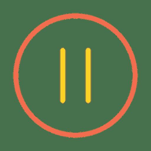 Colorful Stroke Pause Button Icon