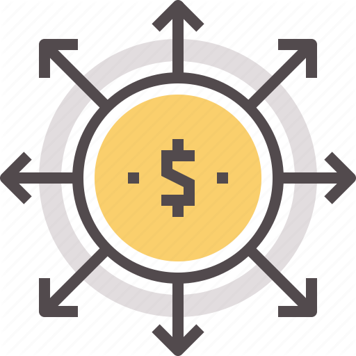 Distribution, Dividends, Finance, Money, Payments, Payout Icon
