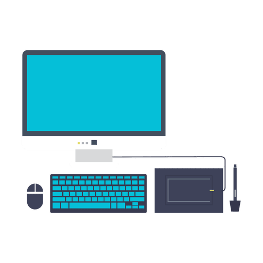 Computer Set Flat Icon