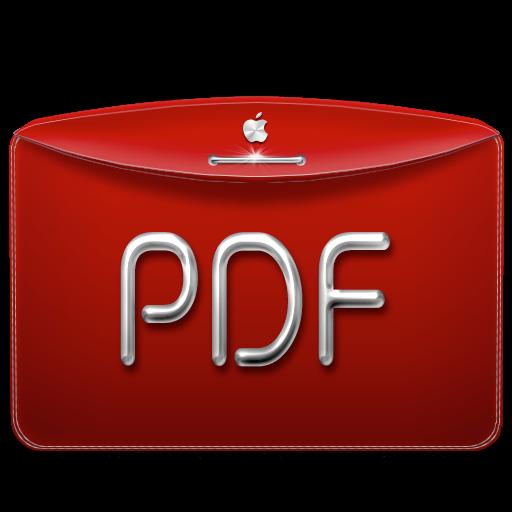 Folder Text Pdf Icon Darktheme Folder Iconset Emoopo