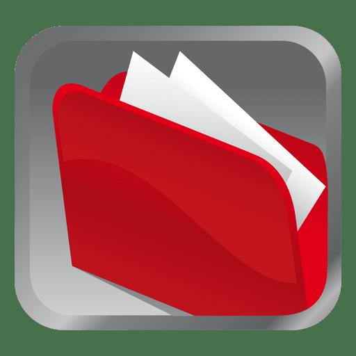 Red Folder Square Icon