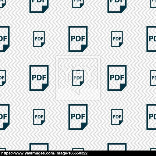 Pdf Icon Sign Seamless Pattern With Geometric Texture Vector
