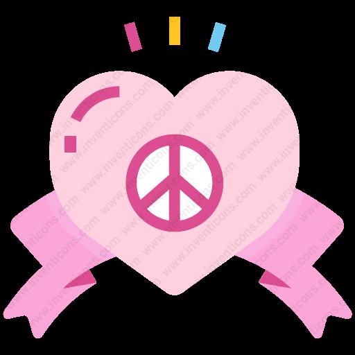 Download Peace,love Icon Inventicons