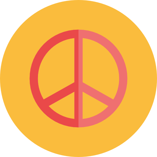 Hippie, Peace, Symbol, Shapes And Symbols, Cultures Icon
