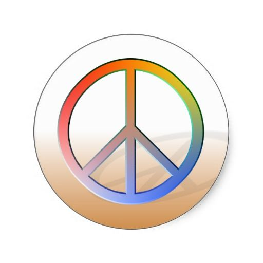 Rainbow Peace Symbol Stickers Peace Signs And Symbols