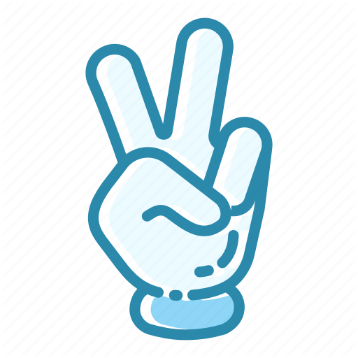Fingers, Gesture, Hand, Love, Peace, Peace Sign, Victory Sign Icon