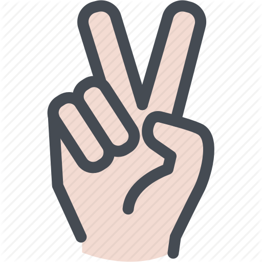 Fingers, Hand, Peace, Two Icon