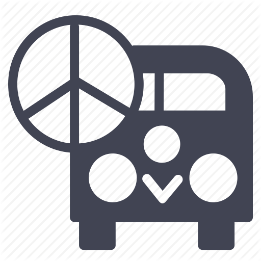Miscellaneous, Peace, Sign, Transportation, Van, Vehicle Icon