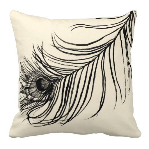 Lucky Feather Throw Pillow Home Skillet Peacock