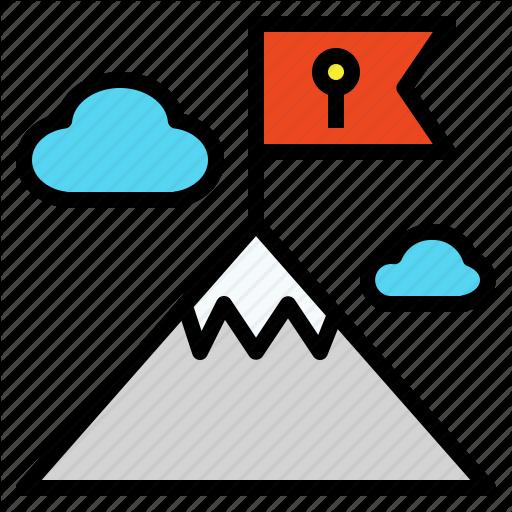 Destination, Final, Flag, Goal, High, Mountain, Peak Icon