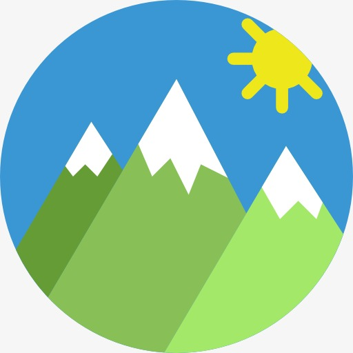 Flat Peak, Mountain Peak, Flat Icon Png And For Free Download
