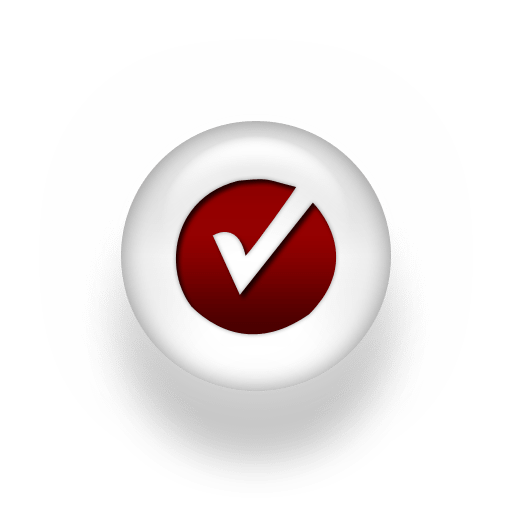 Red White Pearl Icon Checkmark Circle Andrea Callahan, Author