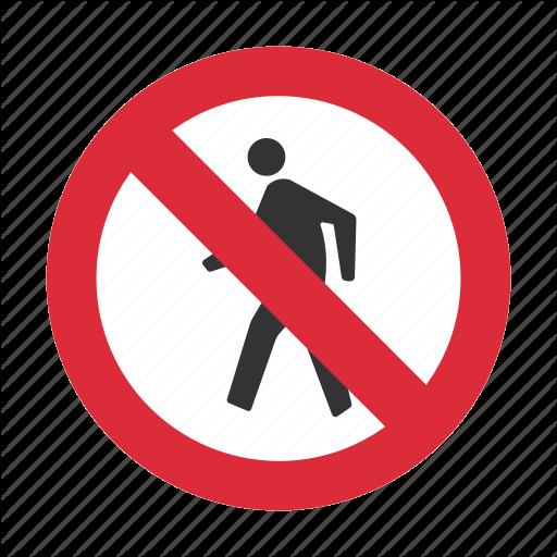 No Pedestrian, Pedestrian, Pedestrian Prohibit, Prohibit, Traffic