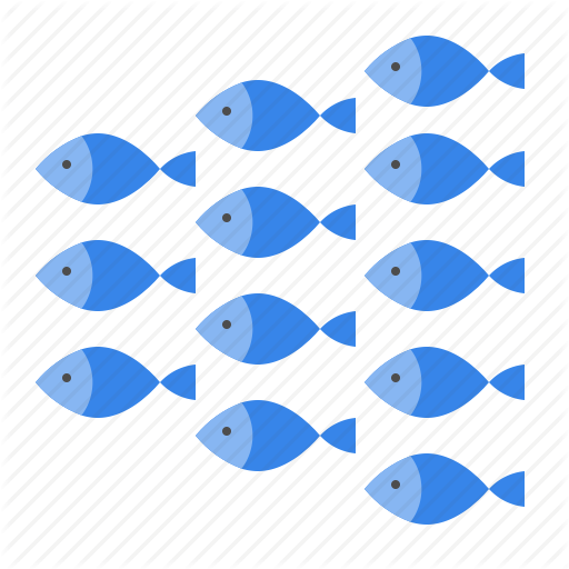 Aquatic Animal, Fish, Group Of Fish, Ocean, Sea, Shoal Icon