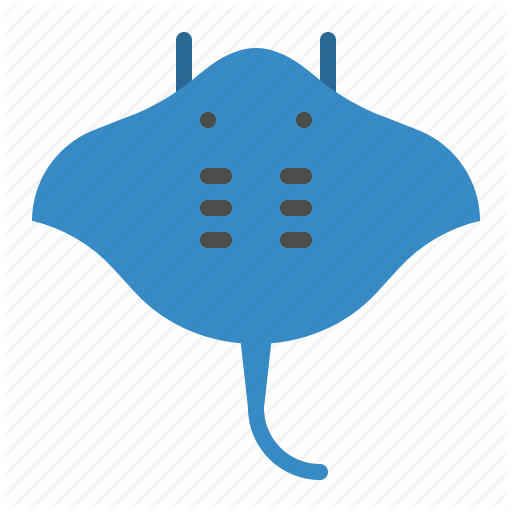 Aquatic Animal, Fish, Ocean, Sea, Stingray Icon