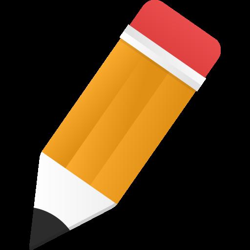 Edit Icon Orange Pencil
