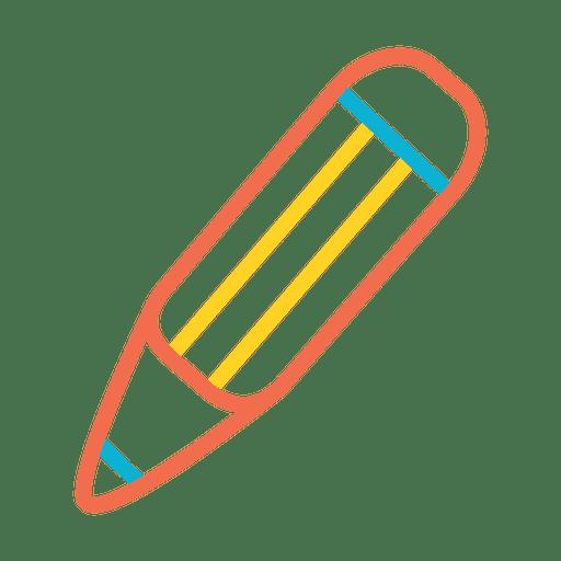 Pencil Colorful Stroke Icon