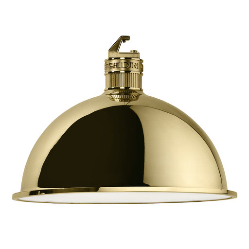 Factory Big Pendant Lamp In Polished Brass