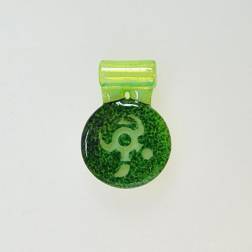Io Glass Icon Amulet Pendant Green Grassroots California